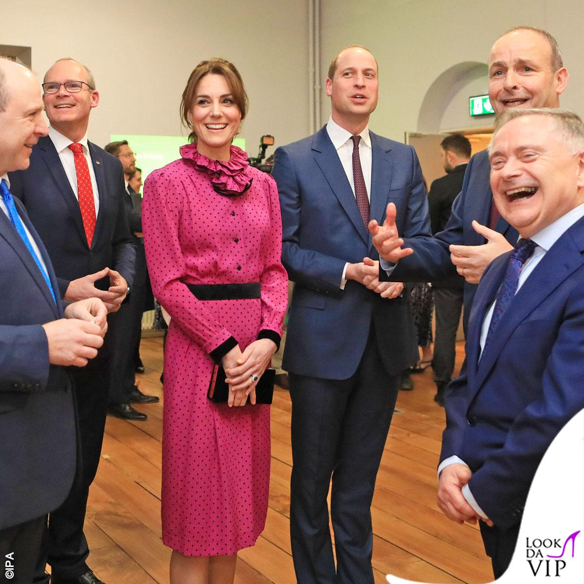 Принц Уильям и Кейт Миддлтон побывали на приеме в Литературном музее Дублина