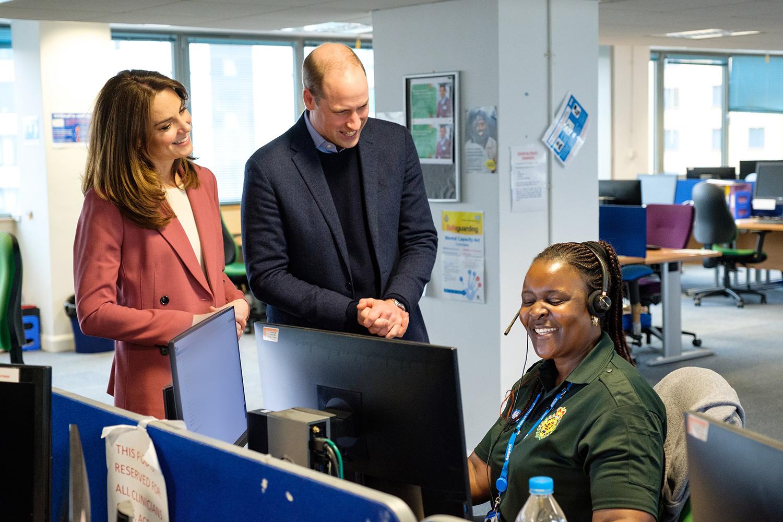 Принц Уильям и Кейт Миддлтон побывали в лондонском центре скорой помощи