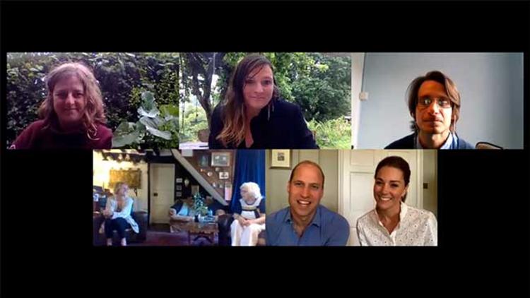 Принц Уильям и Кейт Миддлтон в видеозвонке рассказали о своей тайной волонтерской работе