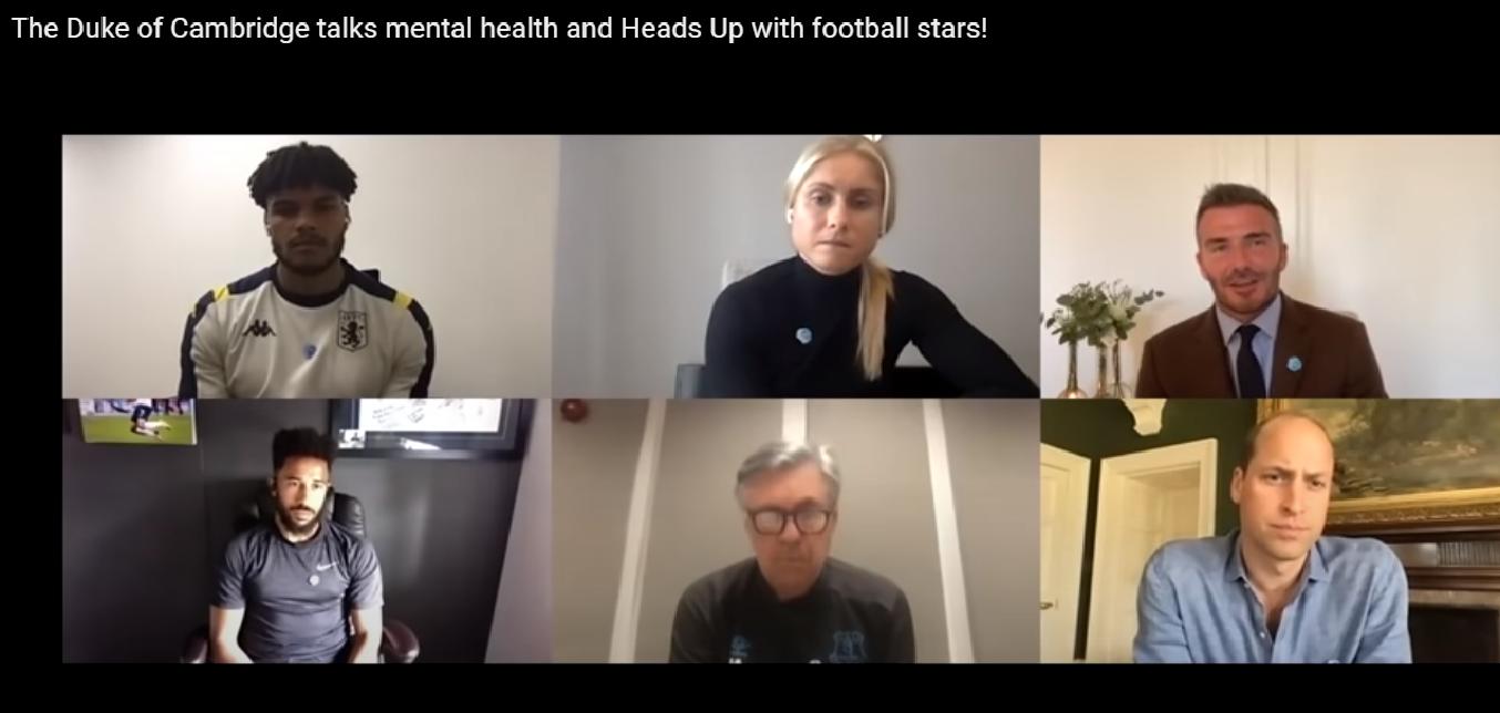 Принц Уильям провёл онлайн-встречу с футболистами