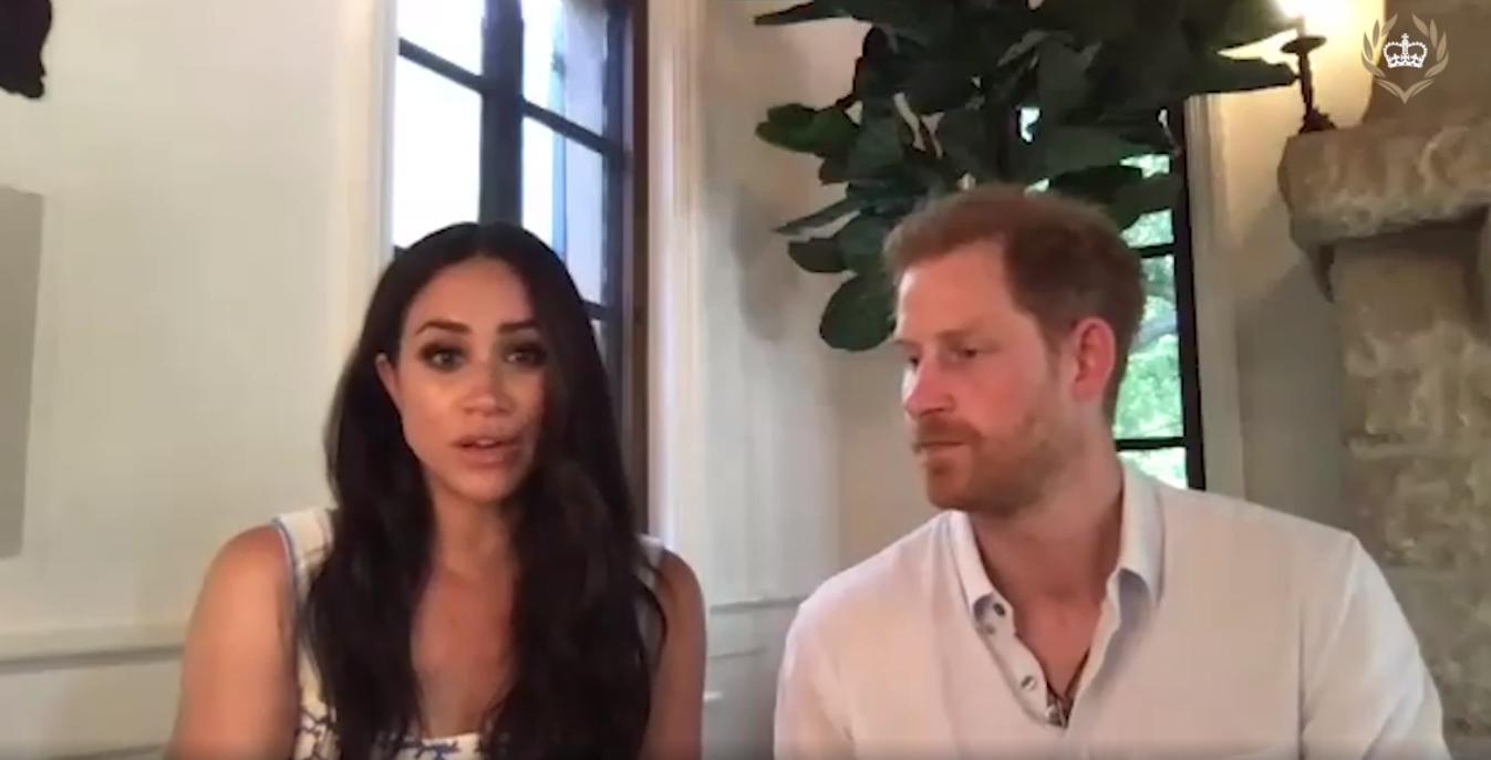 Принц Гарри и Меган Маркл показали кусочек своего нового дома во время онлайн-беседы