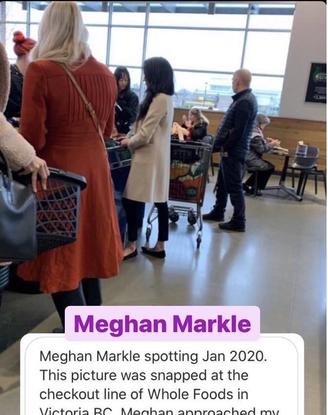 Меган Маркл сама ходит за продуктами: фото