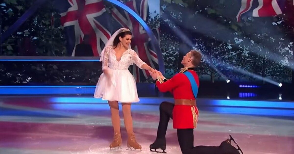 В британском шоу «Танцы на льду» повторили свадьбу принца Уильяма и Кейт Миддлтон