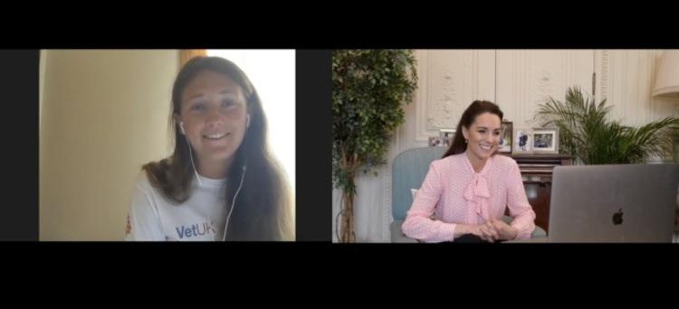 Кейт Миддлтон провела виртуальную встречу с юной спортсменкой