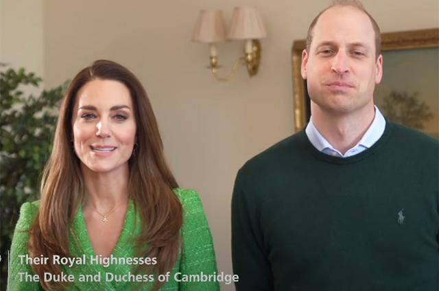 Принц Уильям и Кейт Миддлтон записали видеопоздравление ко Дню святого Патрика