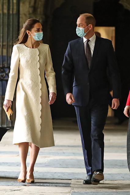 Принц Уильям и Кейт Миддлтон посетили Вестминстерское аббатство