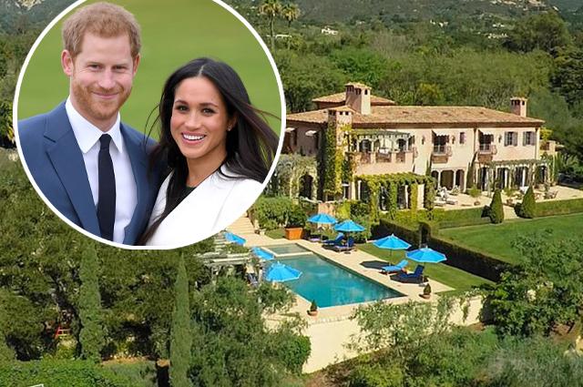 В дом принца Гарри и Меган Маркл в Монтесито 9 раз приезжала полиция