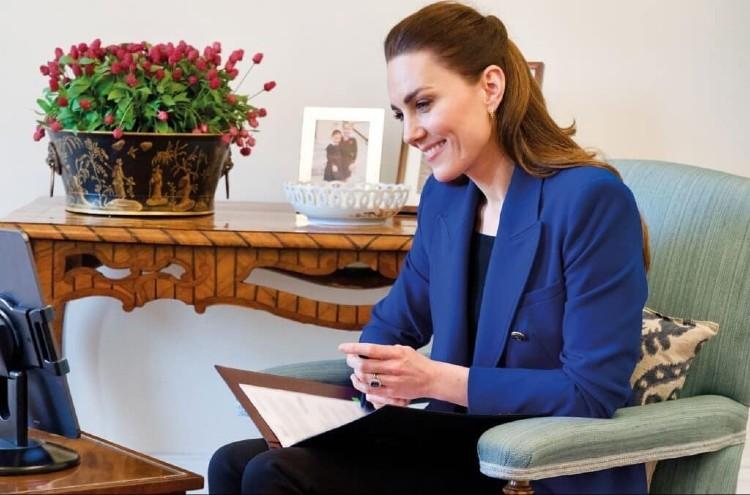 Кейт Миддлтон побыла в роли интервьюера: новая виртуальная встреча герцогини