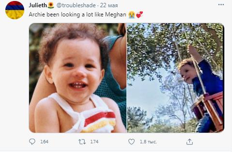 Новое фото маленького Арчи: пользователи Сети решают, на кого больше похож сын принца Гарри и Меган Маркл